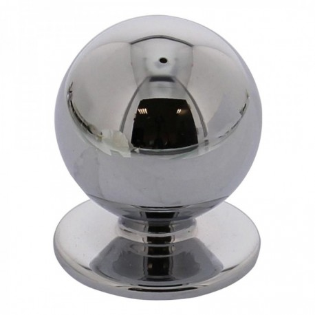 Knop bolrond 30mm chroom