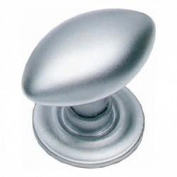 Knop ovaal met achterplaat chroom mat