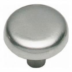 Knop plat 28mm nikkel mat