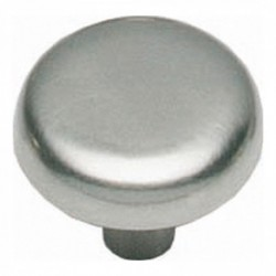 Knop plat 36mm nikkel mat