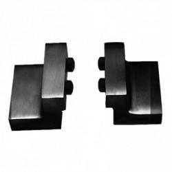 Set van 2 stoppers tbv schuifdeursysteem, incl. bevestiging, mat zwart
