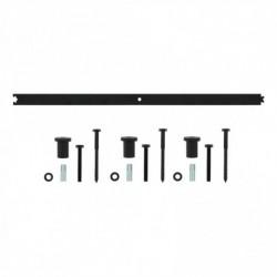 Tussenrail 90cm tbv schuifdeursysteem inclusief bevestigingsset, mat zwart