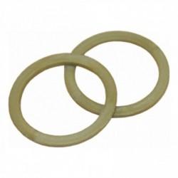 Nylon ring 18mm plat bruin