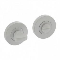 Rozet met toilet-/badkamersluiting rond Ø52x10mm wit