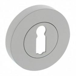 Rozet met sleutelgat rond Ø52x10mm wit