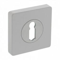 Rozet met sleutelgat vierkant 55x55x10mm wit